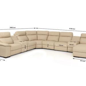 Zagreb Recliner Corner sofa
