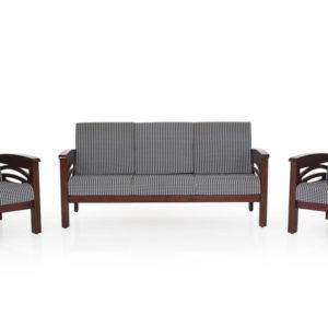 Emerald Wooden Sofa - 3-1-1 Set